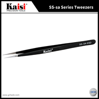 NEW Kaisi SS-sa Anti-Magnetic Cell Phone Repair Pionted Tip ESD precision Stainless Steel Tweezers