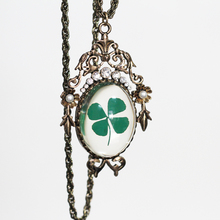 Real Four Leaf Clover Jewelry Necklace Great Gift for Girls