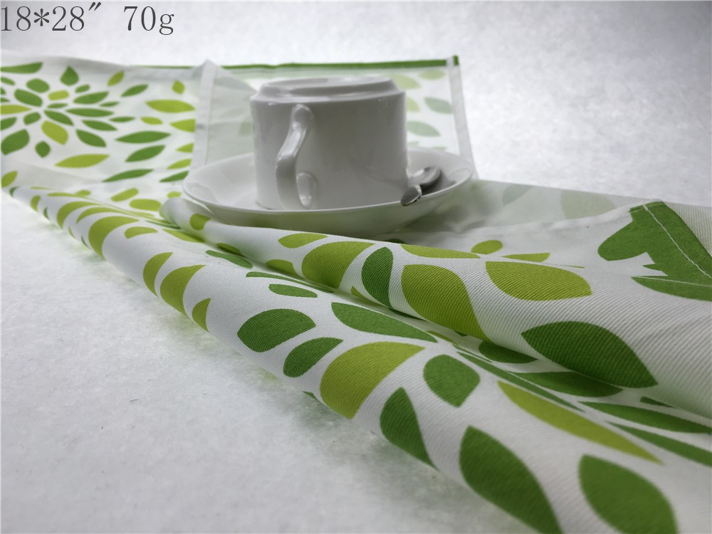 100% cotton reactive printing and yarn dyed  tea towel