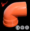 Best discount drainage system pvc pipe fitting 45 elbow with rubber ring