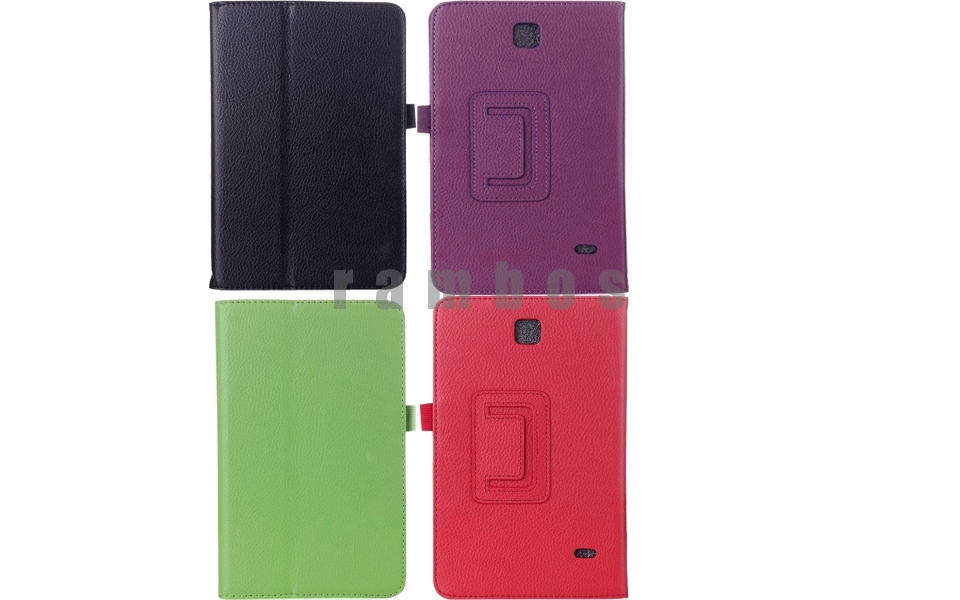 Folding Leather Smart Cover Case Stand for Samsung Galaxy Tab 4 8.0 T330 8 inch Tablet