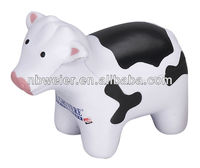 10.8X5.1cm hot selling high quality PU stress ball cow shape/PU funny cow toy/customed PU promotional gift cow