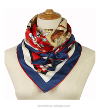 Chinese custom print long neck silk scarf manufacturer