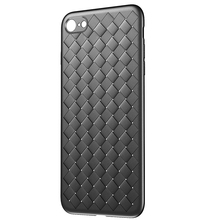 Baseus For iPhone 8s Case, Luxury Creative Grid Weaving Silicone Case For iPhone7 8s Plus 7 Plus Cases Anti Knock Back Cover