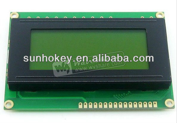 1604 164 16*4 Character LCD Module LCM Display TN/STN Yellow Backlight Black Character 5V Logic Circuit