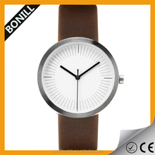 mens leather low moq watchs famous custom brand watch wholesale