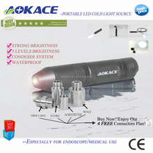 Endoscope Portable Light Source Condenser Technology / Rechargeable LED Cold Light Source For Endoscopy