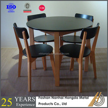 Classic black lacquer dining room furniture sets
