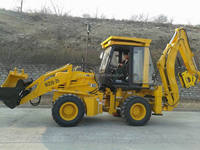Chinese famous brand tractor type 4 wheel drive backhoe loader with diesel engine for hot sale