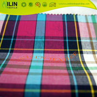 40S cotton yarn dyed checked fabric textile in india market