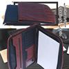 High Quality Leather Card Notepad Holder Portable Leather Travel Business File Bag