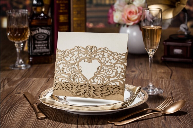 Whosale wedding / party invitations laser cut card