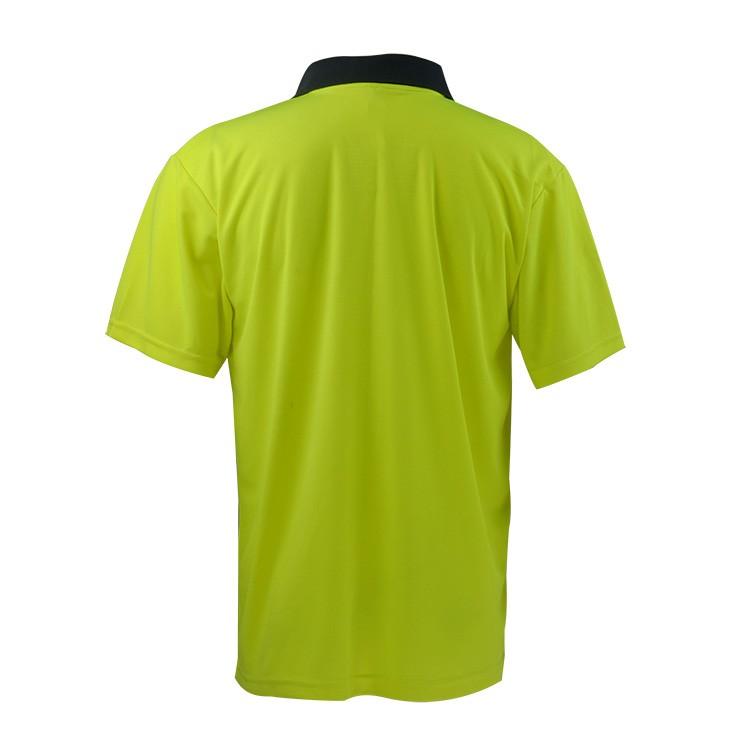 Custom two tone dark blue hi vis polo t shirt buy hi vis for Custom hi vis shirts