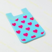 Silicone 3m Sticker Silicon Phone Back Pouch For Mobile Card Silicon Sticker Smart Wallet