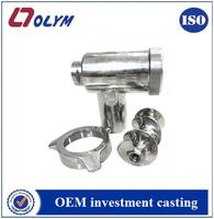 Polished kitchen meat chopper parts custom food machinery CF-8M 316 stainless steel casting parts