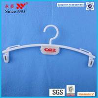 hot sale white plastic lingerie clip mini hanger