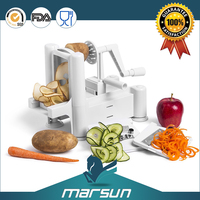 1Pcs 3in1 Spiral Vegetable Slicer Cutter Chopper Spiralizer Shred for Fruit Twister Peeler Kitchen Tools