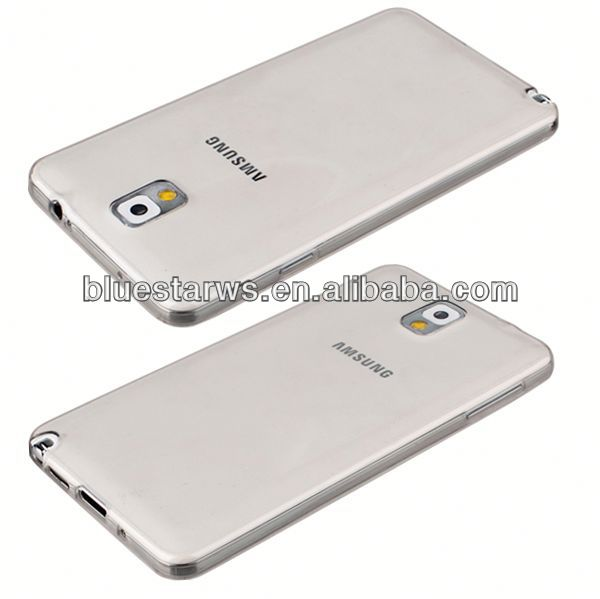 2014 wholesale Transparent tpu case for samsung note3 oem case for galaxy note 3