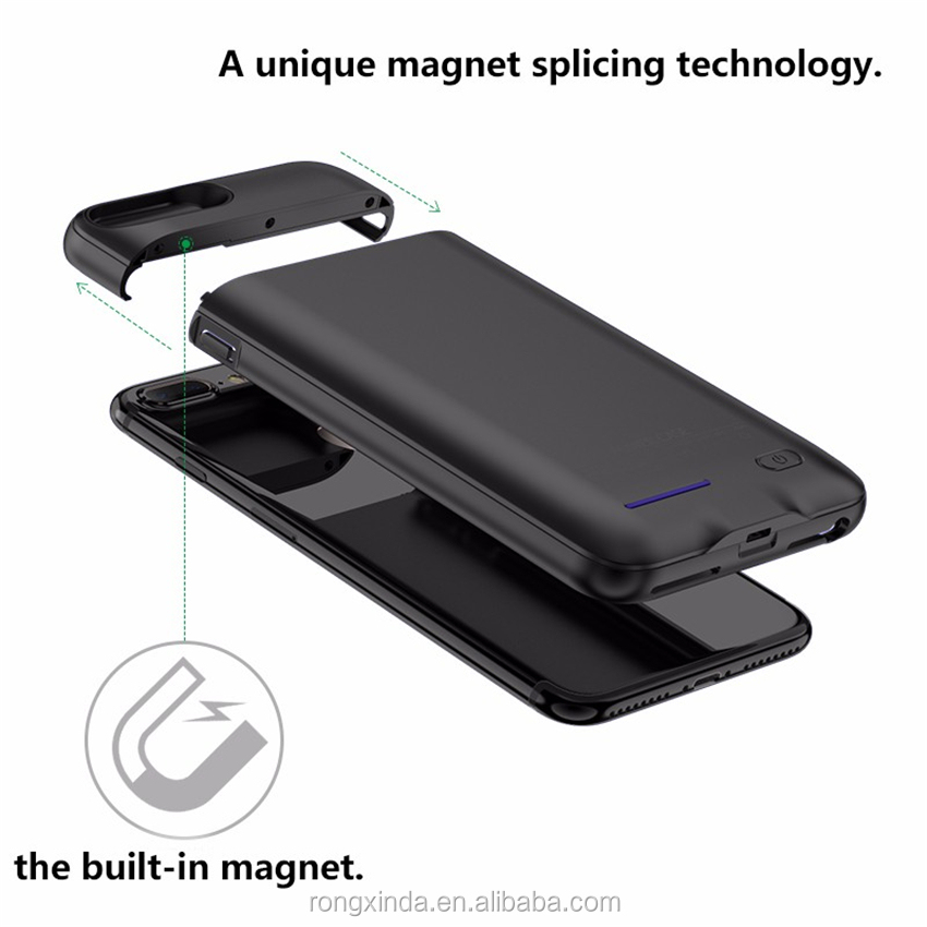 Hot trend 2017 4200mah portable external wireless charger for iphone 7 Magnetic battery case for iphone 6