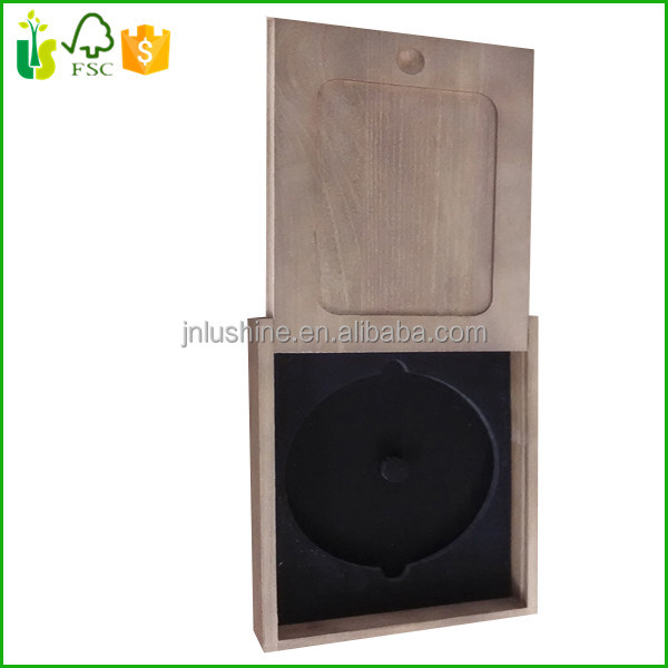 Home Decorative Wooden CD Box Antique Wood CD Case