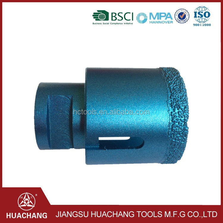 Jiangsu Huachang Manufacturer 100mm diamond tip core drill bit for hard rock