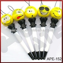 Six of BaiGan smiling face ballpoint pen