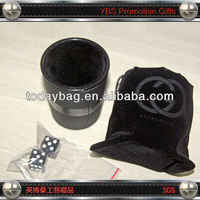 personalized Leather Dice Cup, dice set for promotion
