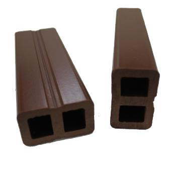 wood plastic composite decking accessories hollow joist 50X30mm
