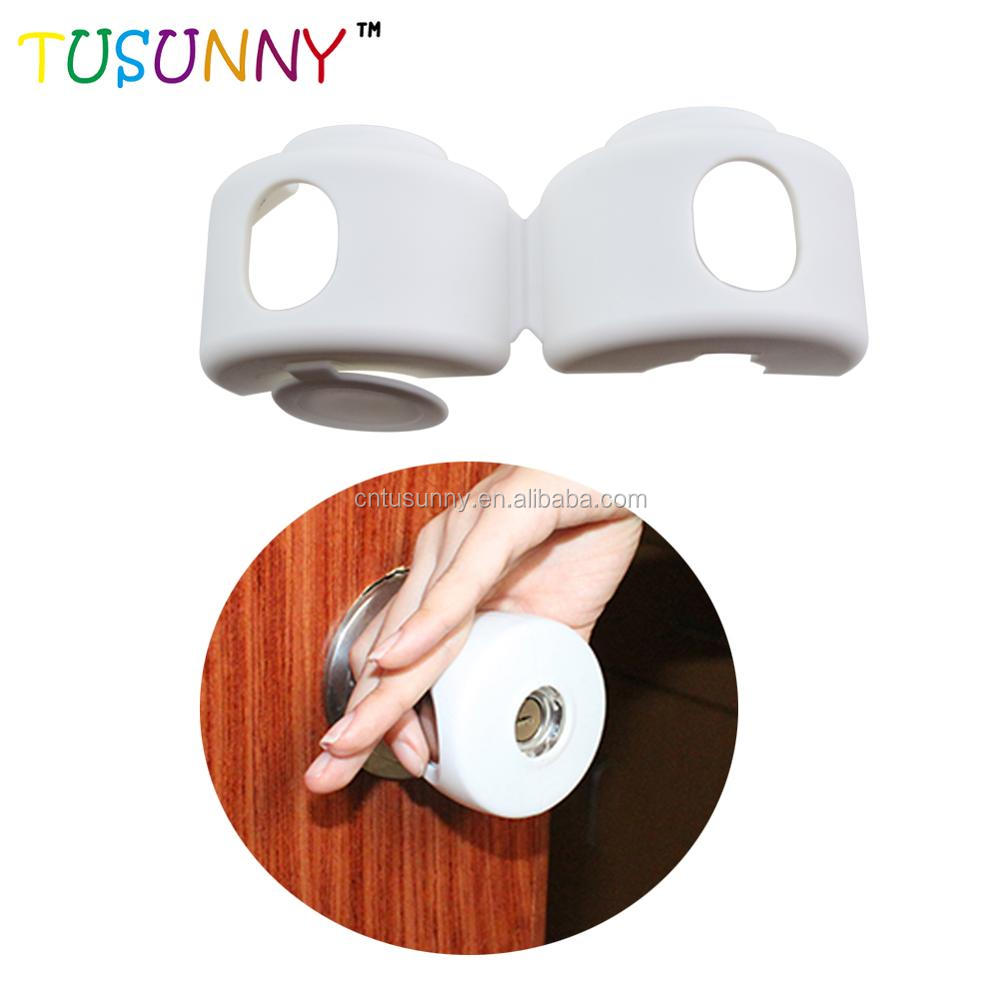 Plastic Baby Protective Door Handle Cover Kids Safety Door Knob Covers