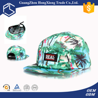 Guangzhou high quality sublimation hawaii 5 panel hats