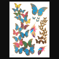 Butterfly Letter Transfer Waterproof Temporary Tattoo Body Art Sticker