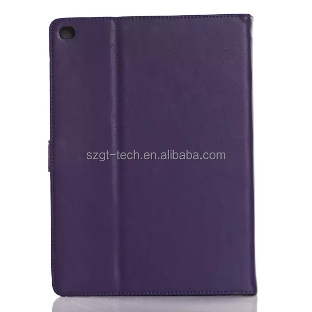 For iPad Air multiple function stand card slot PU leather tablet case with angle display