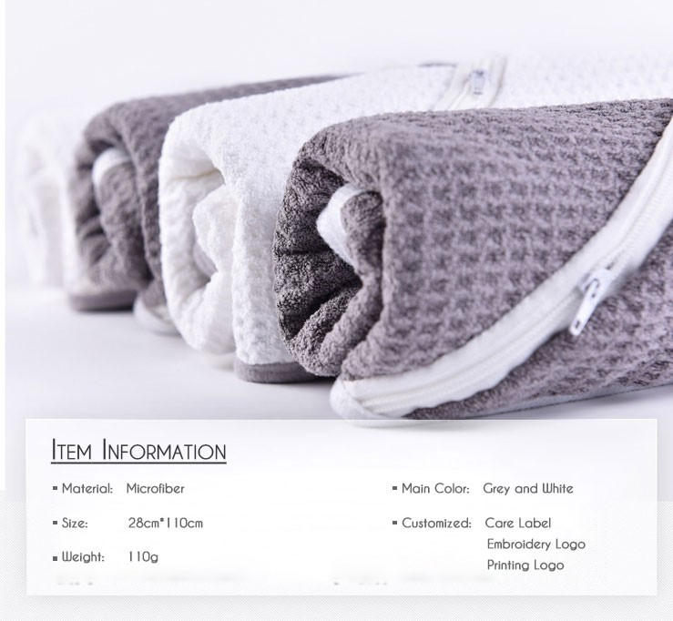 Hot Selling!!!Personalized microfiber towel sports Gym Towel with Pocket Logo