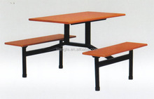 simple design 4 people metal dining table for school