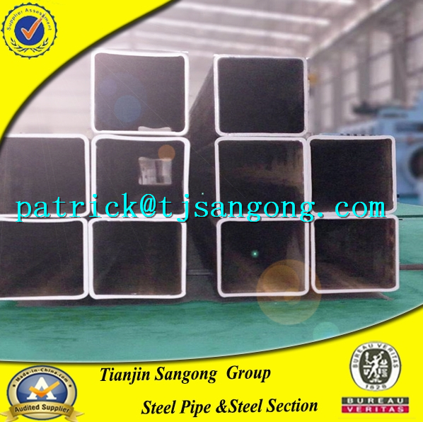 china market wholesale cost price seamless/low carbon steel black square/Rectangular pipe/tube