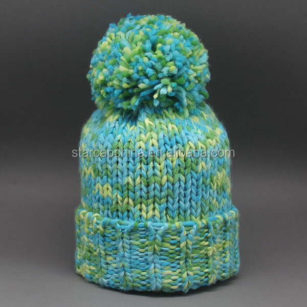WINTER BEANIE HATS WITH POM POM KNITTED HAT JACQUARD HAT