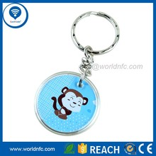 860-960mhz Waterproof Alien H3 RFID keyfob/ keychain/ key tag for party event/decoration