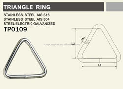 Metal Highly Quality Stainless Steel Rigging Hardware Triangle Ring