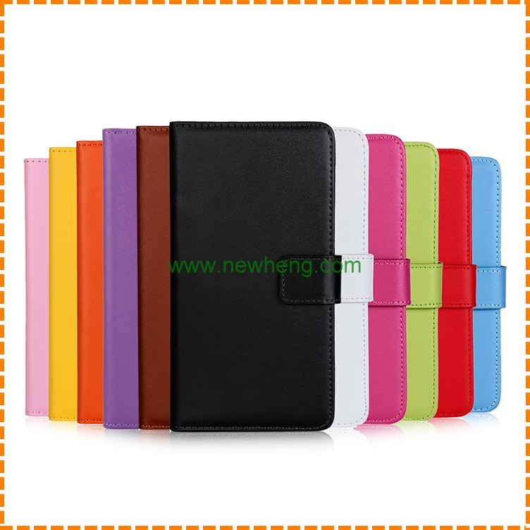 Wholesale genuine flip wallet leather phone case for iPhone 7