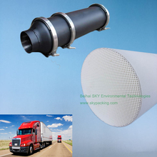 Cordierite DPF filter used in diesel catalytic converter of tipper truck for trapping PM