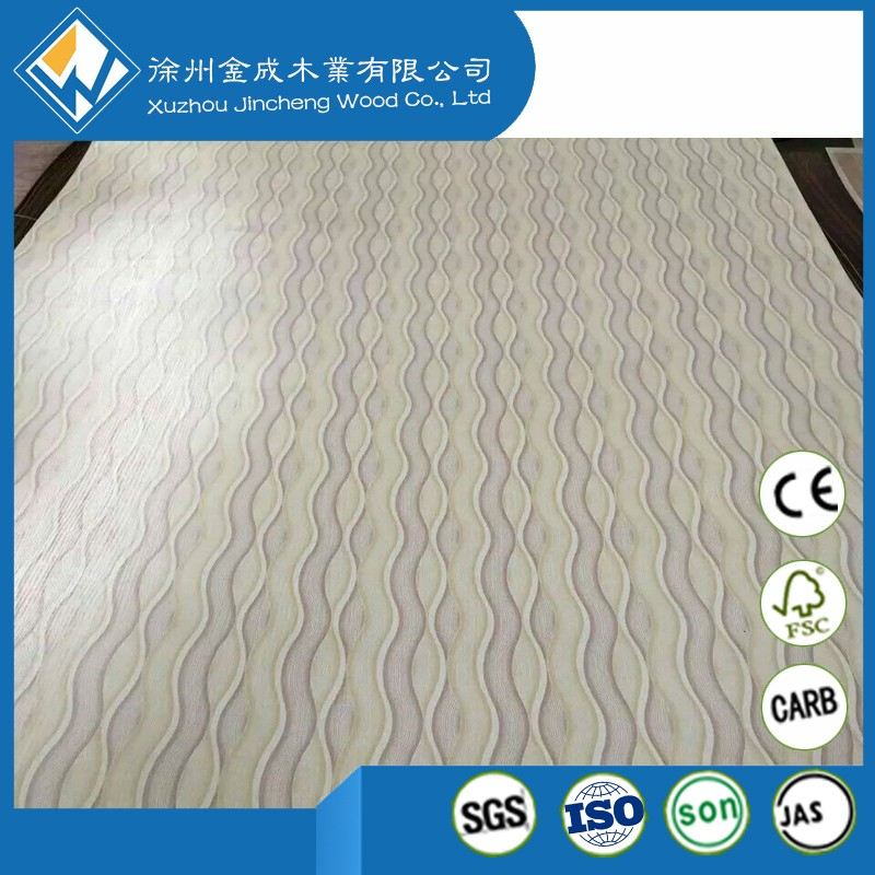 Melamine laminated plywood paper overlay plywood polyester PVC coated plywood for decorative and furniture