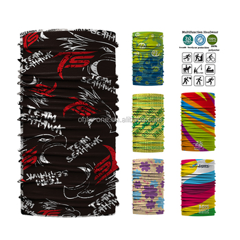 Custom No Minimum Headwear Factory Price Seamless Colorful Tubular Bandana