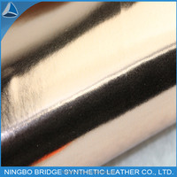 China Supplier Good Quality Mirror PU Leather Fabric for Shoe