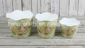 Plastic garden planters shallow small flower pots