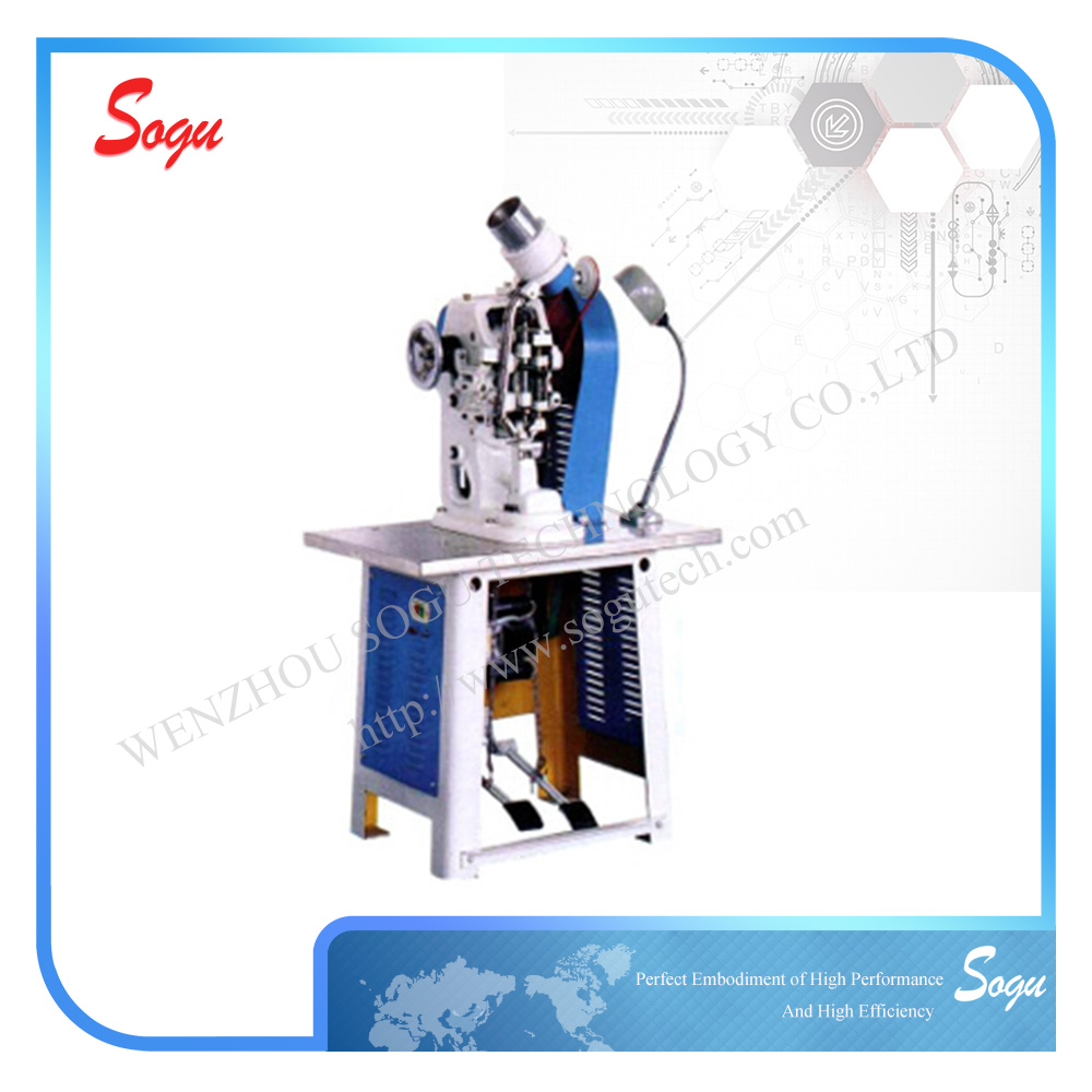 Xm0001 Easy operation paper bag punched belt and leathers Automatic Eyeleting Machine