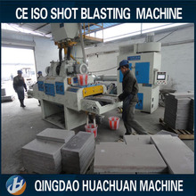 CE ISO marble stone roller conveyor shot blasting cleaning machine