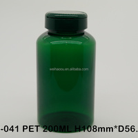 200ml Empty Dark Green Transparent Plastic