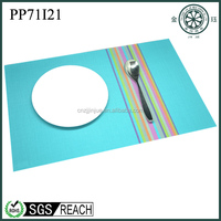 wholesale table mat PVC and Polyester woven dinning table placemat