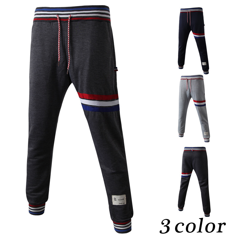 Slim Fit Harem Sweatpants Stripe Joggers for Man Wholesale Jogger Pants M/L/XL/2XL