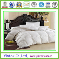 LUXURIOUS Queen Size Siberian Comforter, 400 Thread Count 100% Egyptian Cotton Cover, Solid White Color, 750 Fill Pow